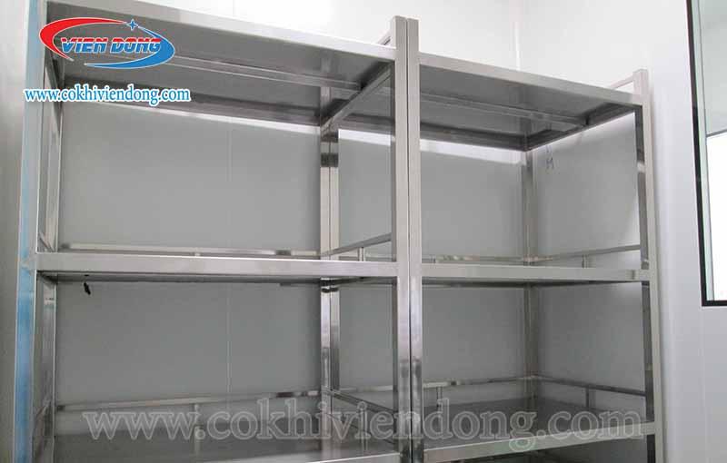 Kệ inox treo tường nhà bếp công nghiệp đa dạng, chất lượng