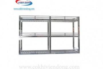 Bố trí kệ INOX 3 tầng treo tường hợp lý nhất cho căn bếp