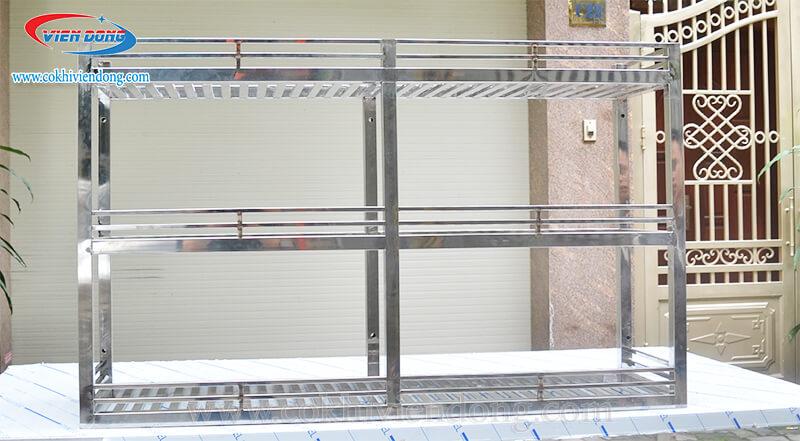 kệ INOX 3 tầng treo tường